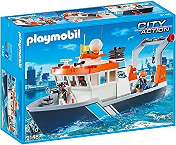Playmobil 9148 Floating Tugboat with 2 Figures
