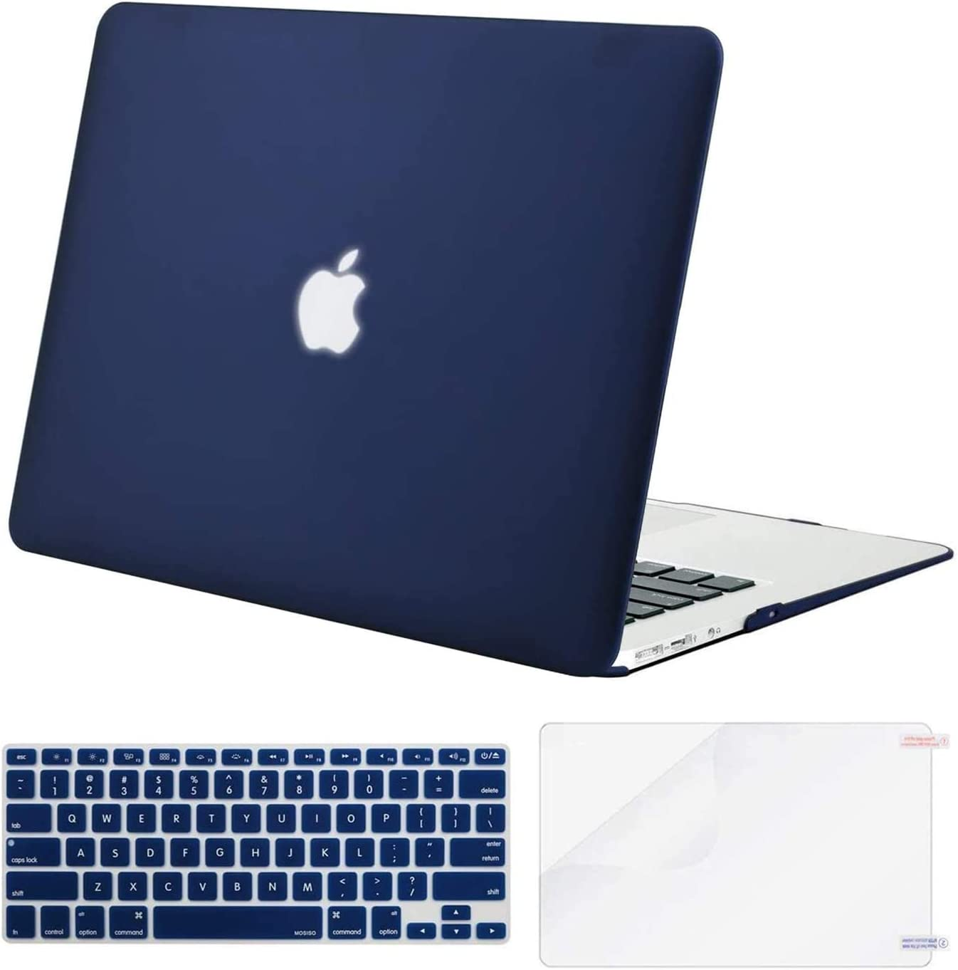 Cleaning Brush Mac Air 11 2012-2015 Screen Protector Laptop Case Plastic Hard Case with Keyboard Cover MacBook Air 11 Inch Case , New Clear Blue A1465//A1370