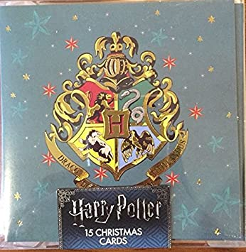 harry potter christmas cards 15 in a pack with 4 designs