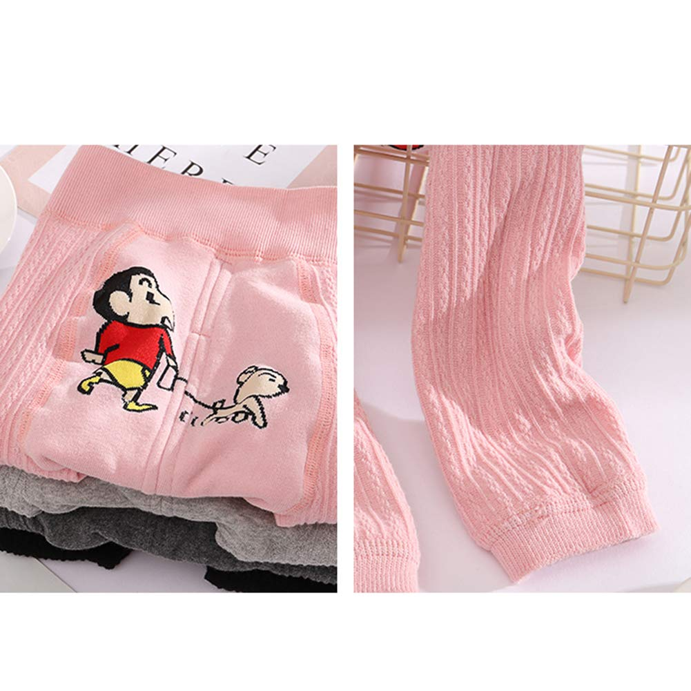 Baby Boys Girls Fleece Lined PP Pants Thicken Leggings Cotton Stretch Footless Tights Trousers