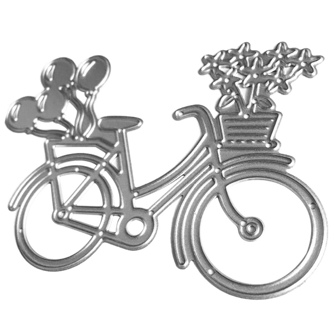 joyliveCY Lovely Bike Bicycle Metal Cutting Dies Stencil Compatible With Wedding Scrapbooking Paper Card Making CY-Buity