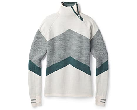c8f7af6431a5a0 SmartWool Women's Dacono Ski Funnel Neck Sweater Moonbeam Heather X-Small