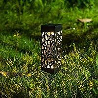 Lámparas Solares para Jardín, 6 Piezas Luces Solar Exterior Jardin Lámpara Solar Jardín Luz Tren Luces Exterior Luz, Impermeable IP 44 para Terraza Césped Jardín Patios(Blanco Cálido): Amazon.es: Iluminación