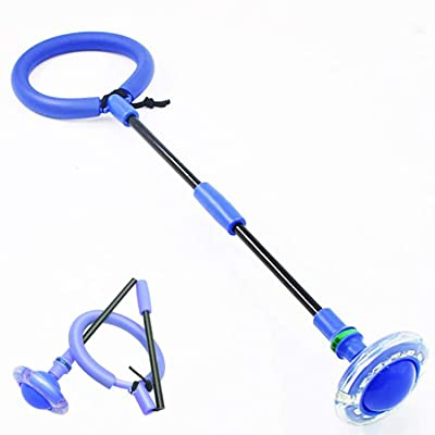 AMPURSQ Jump Rope for Kids, Foldable Ankle Skip Flash Jumping Ring Colorful Sport Swing Ball Toy Game for Kids Girls Boy (Blue): Sports & Outdoors