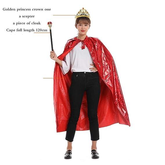 WYXFS Disfraz de rey Disfraz de princesa Capa de capa Capa de ...