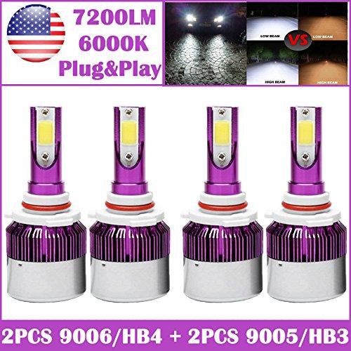 9006 bright white headlight bulb - 8