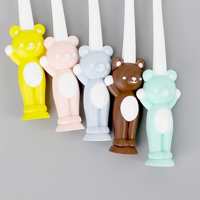 Amazon.com: Muhan 4pcs Toothbrush Set for Infant Toddlers Kids Soft Bristles Oral Care Kit Cartoon Bear Bunny Training Toothbrush: Home & Kitchen