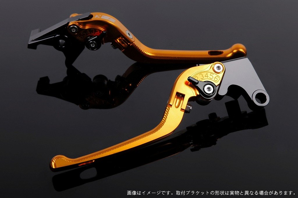 SSK アジャストレバー 3D可倒式 レバー本体カラー:ゴールド アジャスターカラー:ブラック YZF-R6 2017- YA0407146-BK B07MXCKD62