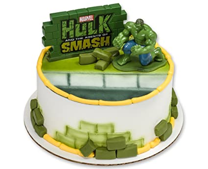 Amazoncom Hulk Agents Of Smash Marvel 3d Action Figure Cake