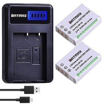 Amazon.com: Batmax 2 paquetes NP-95 NP 95 baterías de iones ...