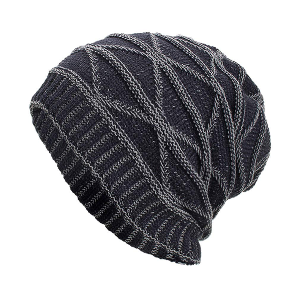 NRUTUP Winter Hats, Unisex Warm Hat, Skull Cap, Ski Hat - Knit Hat .(Navy,Free Size)