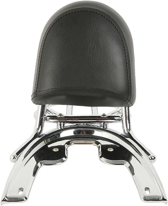 XMT-MOTOR Dossier Sissy Bar Porte-Bagage Chrome pour Harley Davidson V-Rod VRSCSE 2005 VRSCA VRSCB VRSCD 2002-2006