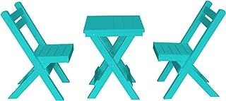 product image for Amish Poly Coronado Square Folding Bistro Set (Aruba Blue)