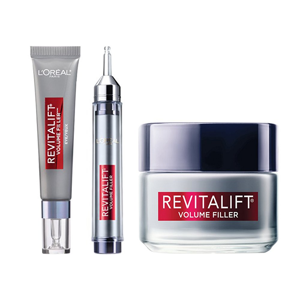 L'Oreal Paris Revitalift Volume Filler Eye Treatment, Facial Serum and Moisturizer