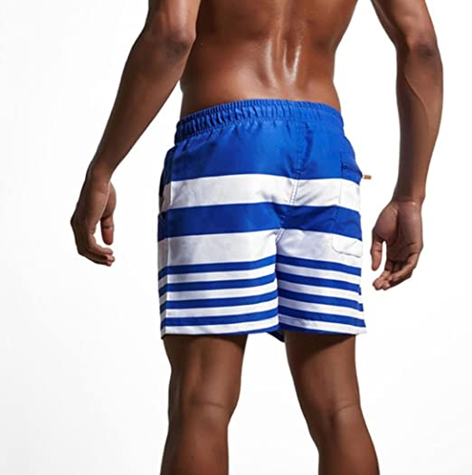 Pantalones Cortos Rayas Con CordóN Ajustable Natacion LHWY, BañAdores Hombre Tallas Grandes Transpirable Para Deporte De Aire Libre