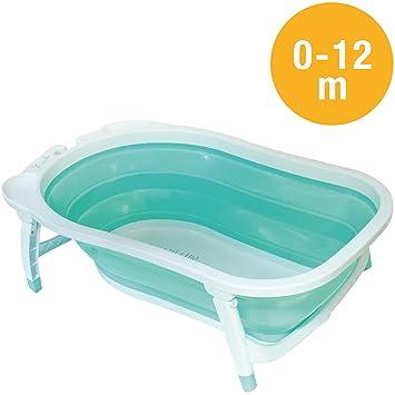 Babysun Baignoire Bébé Pliable Ultra Compacte 0 12 Mois Contenance 35l Turquoise