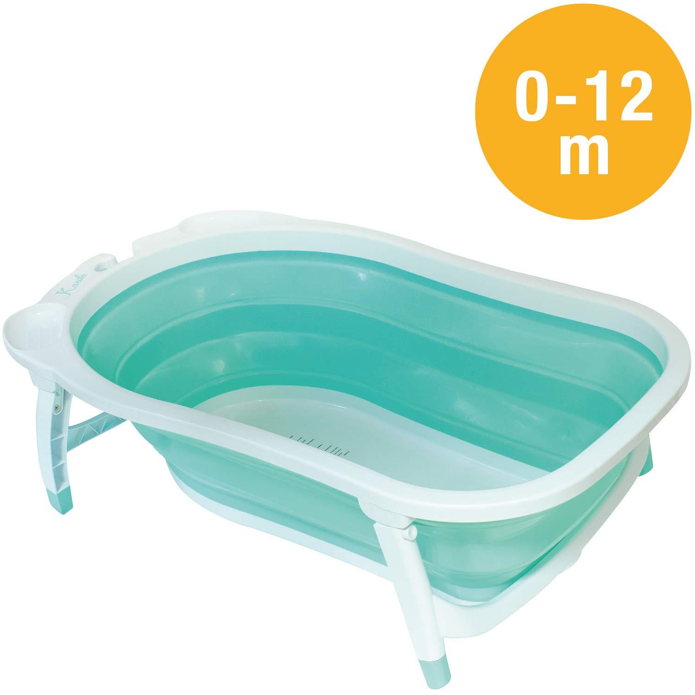 Babysun Baignoire Bébé, Pliable Ultra Compacte, 0-12 Mois, Contenance: 35L, Turquoise product image