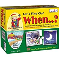 Creative Educational Aids P. Ltd. Let's Find Out When Puzzle (Multi-Color)
