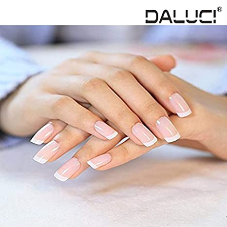 Daluci 24 Pcsset French Nails Nail Art Pre Design Acrylic Fake Nail