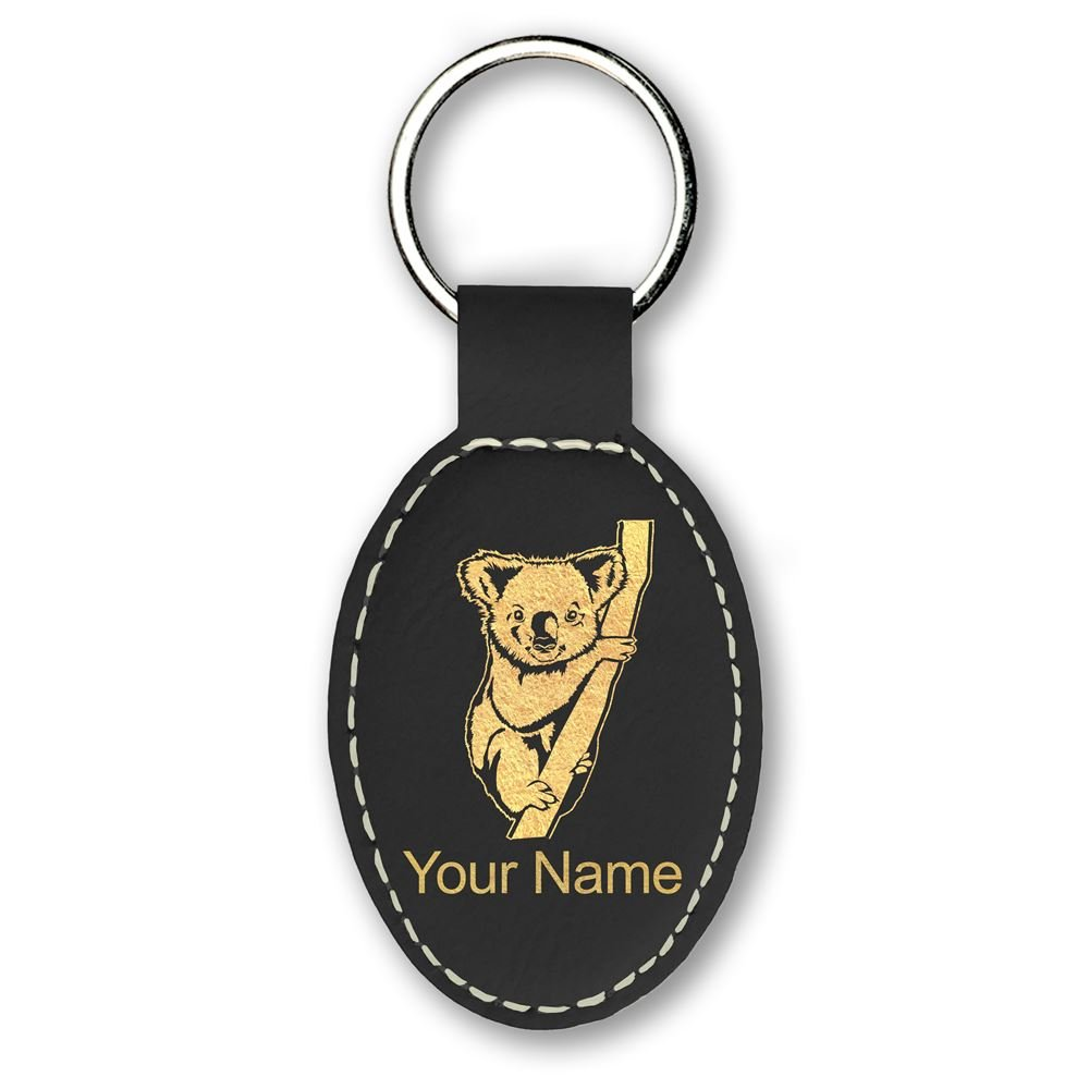 Llavero - Koala Bear - personalizado grabado incluido (negro ...