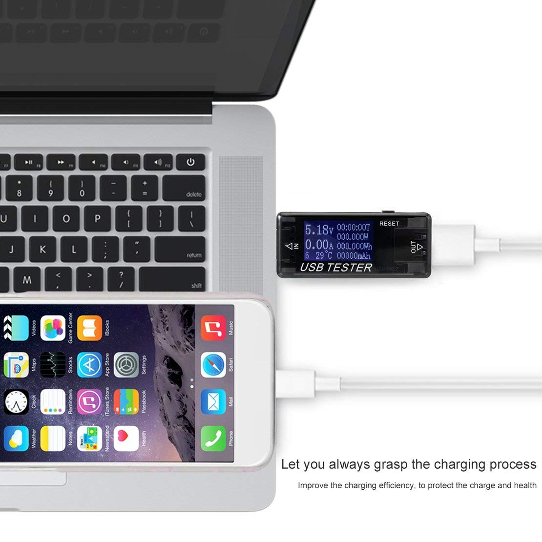 Portable Mini 0-150W Potenza 0-99999 mAh Capacit/à 0-999.999Wh Electical Energy Display digitale USB Multifunzione Tester