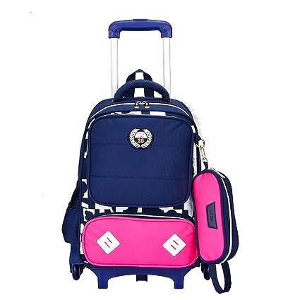 4b697e984e27 Amazon.com : JQXB Kids Trolley Backpack School Bag Boys Girls ...