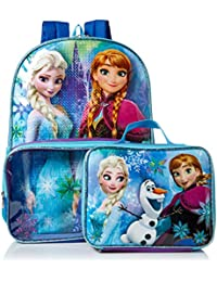 Girls' Frozen Backpack with Lunch Window Pocket, Multi