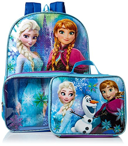 Price comparison product image Disney Girls' Frozen Backpack with Lunch Window Pocket, Multi