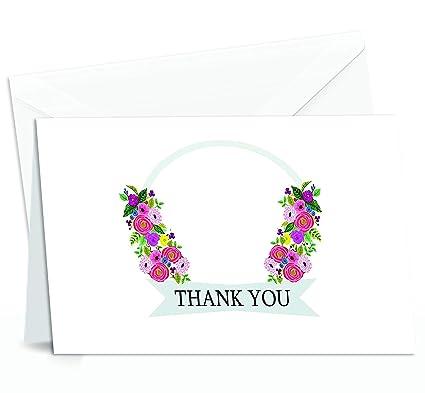 50 Amazing gracias tarjetas de Nota con varios colores Vibrant ...