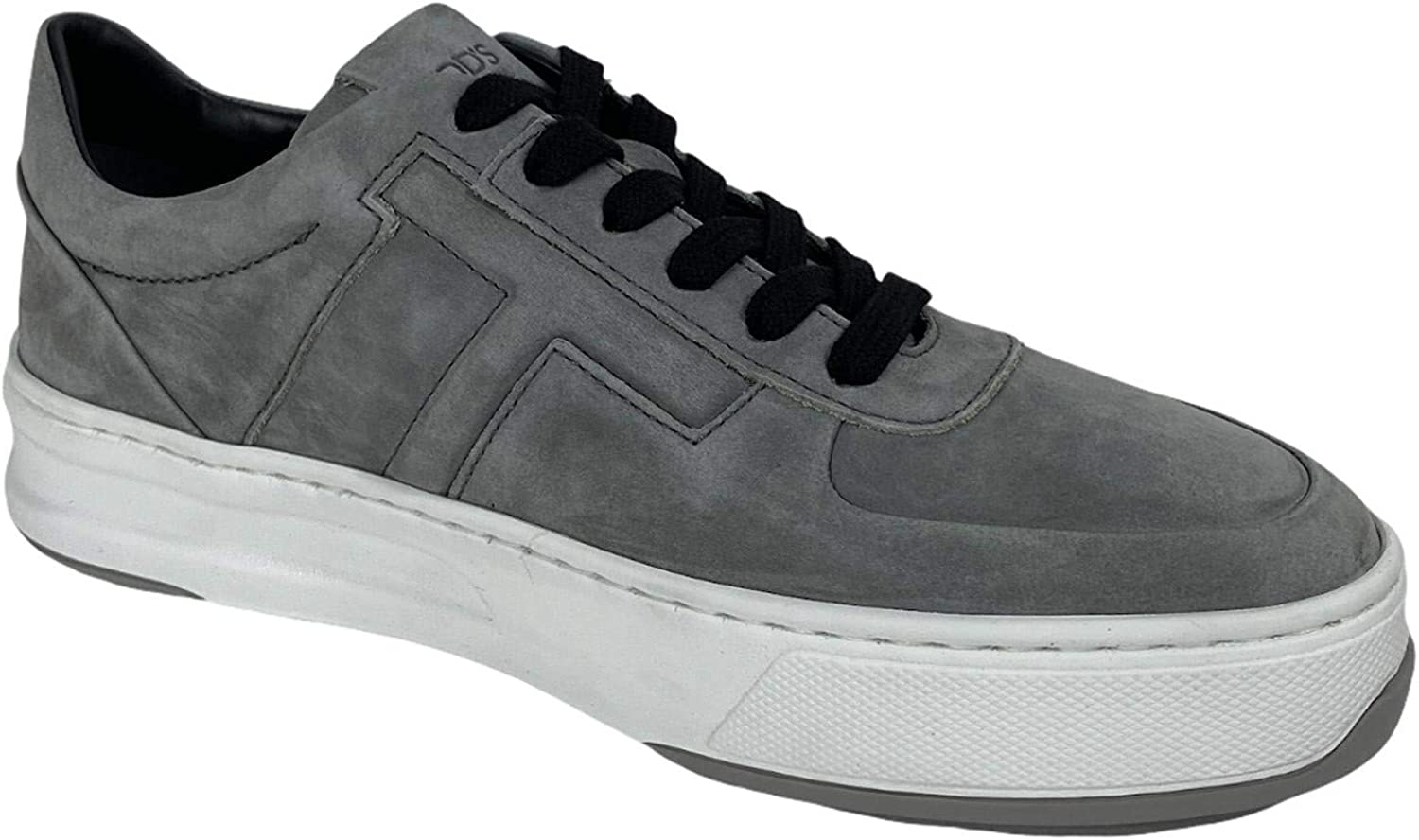 Tod's D01 Sneaker Uomo T laterale Grey Nubuck Leather Shoe Man Grigio