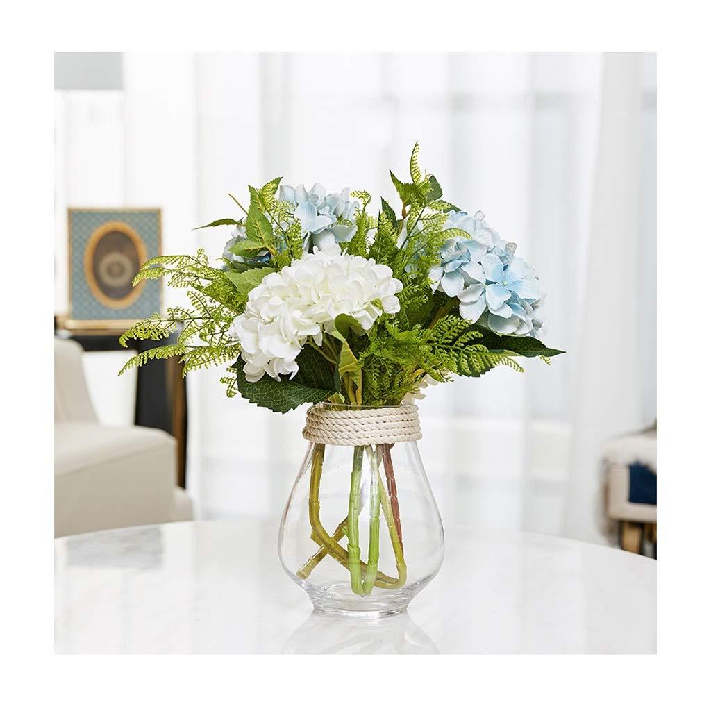 ガラス花瓶 クリエイティブライト高級水耕花瓶テーブルガラス容器パーティーデコレーション(17 * 21 Cm) B07SZ5JFQZ