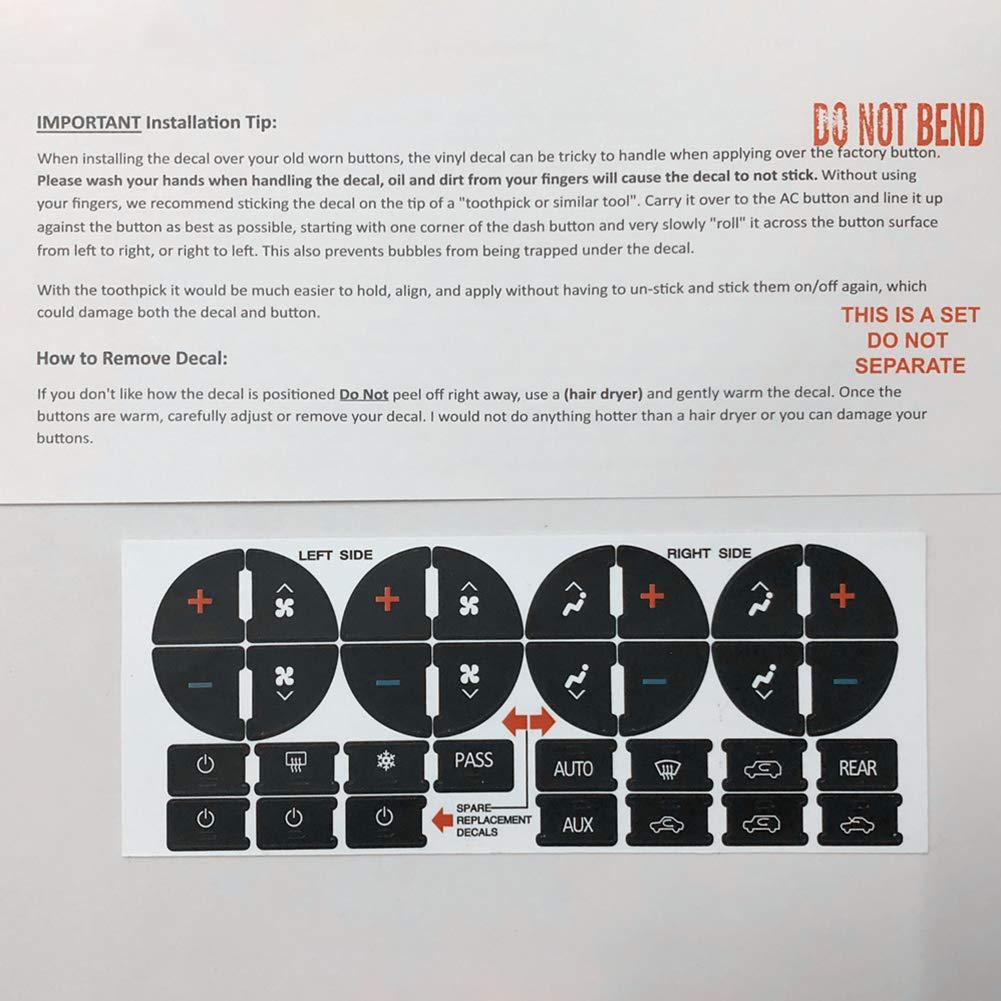 BEESCLOVER for GM Car Keys AC Central Control Keys Sticker