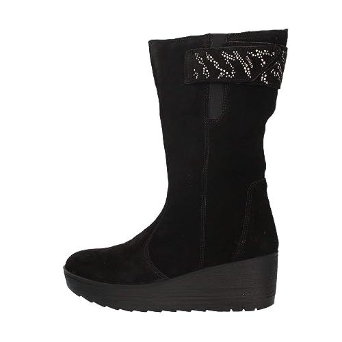 Stivali Igi Co per donna in camoscio nero con zeppa alta  Amazon.it ... 4db8e586ec3