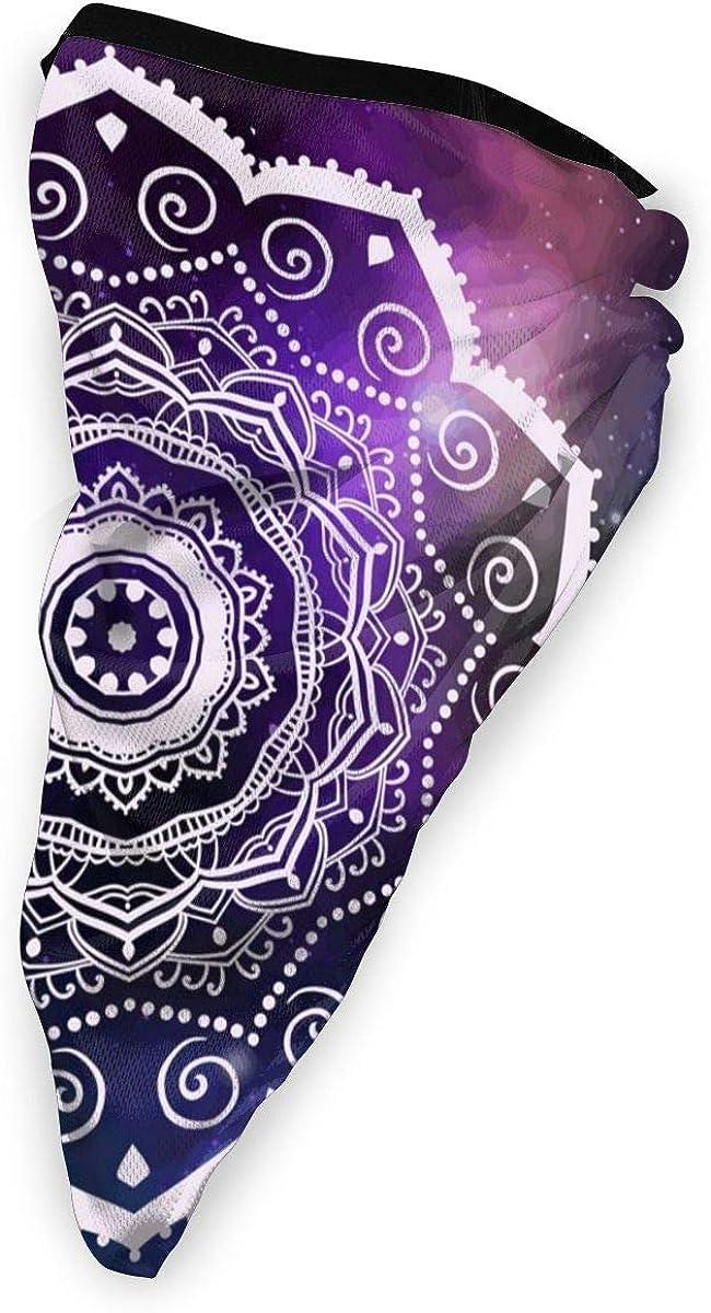Mandala Card Vector Image Neck Gaiter Dust Sun Protection Face Cover Balaclava Sports Headwear Works As Scarf Headband Bandana Face Mask