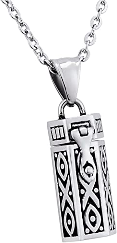 Fashion Rectangle Stone Protection Necklace Pendants Prayer Jewelry For Women