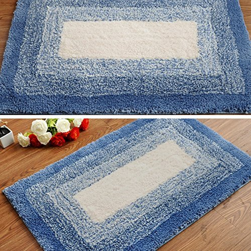 DIDIDD Super soft blue rug shaggy rug / comfortable and durable antibacterial 5080cm brown,Blue by DIDIDD (Image #1)