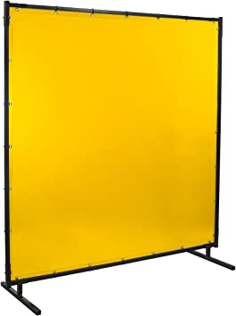 Yellow Steiner 534HD-4X6 Protect-O-Screen HD Welding Screen with Flame Retardant 14 Mil Tinted Transparent Vinyl Curtain 4 x 6