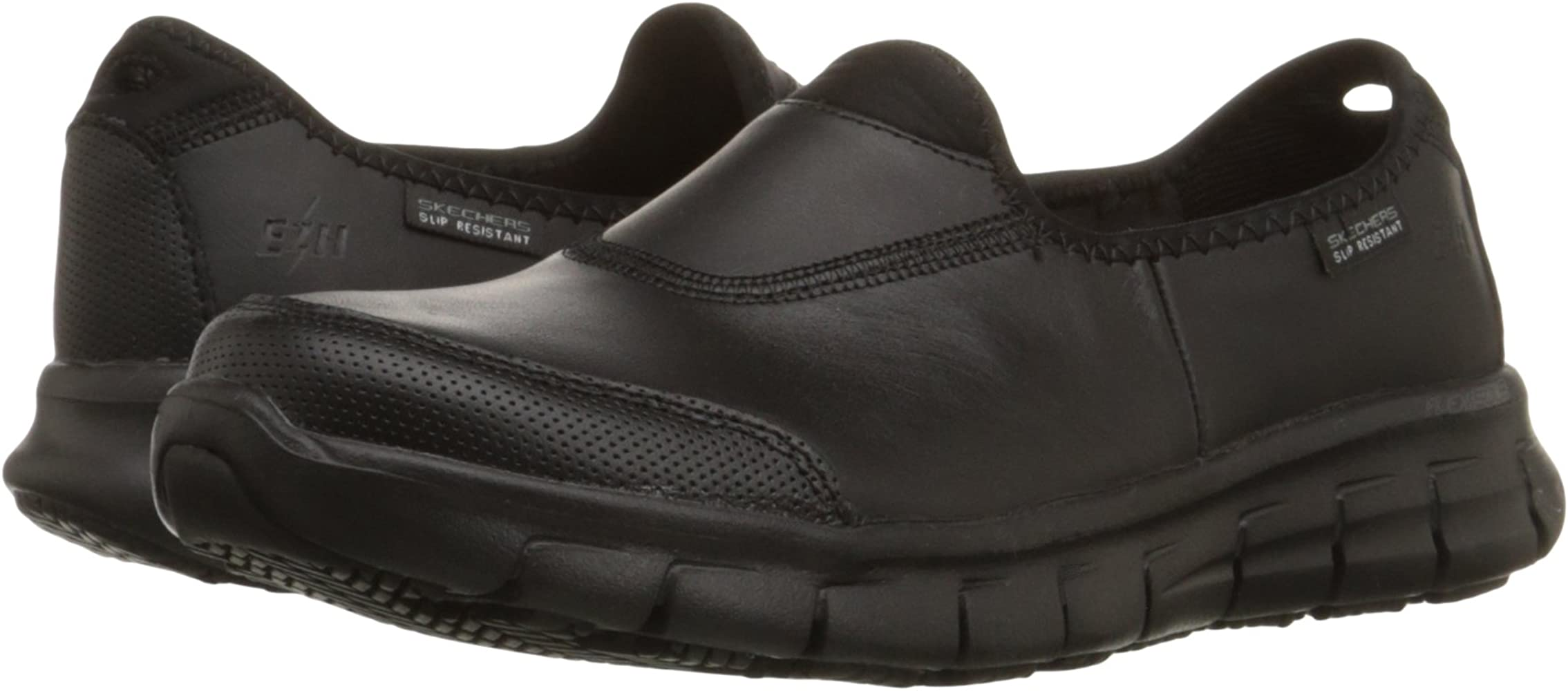 for Work Women's Sure Track Slip Resistant Shoe, Black, 9.5 M US
