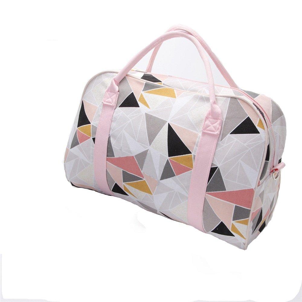 Ybriefbag Unisex Canvas Sports Fitness Bag Single Shoulder Hand Luggage Bag Female Travel Bag Beach Bag Multi-Function Luggage Bag Vacation