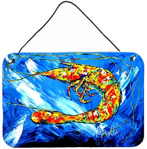 Carolines Treasures Ice Blue Shrimp Wall or Door Hanging Prints MW1226DS812 8 x 12 Multicolor
