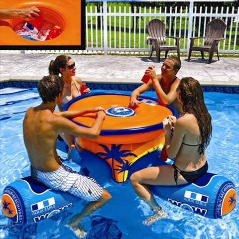 WOW World Of Watersports Aqua Table Inflatable Floating - Inflatable picnic table