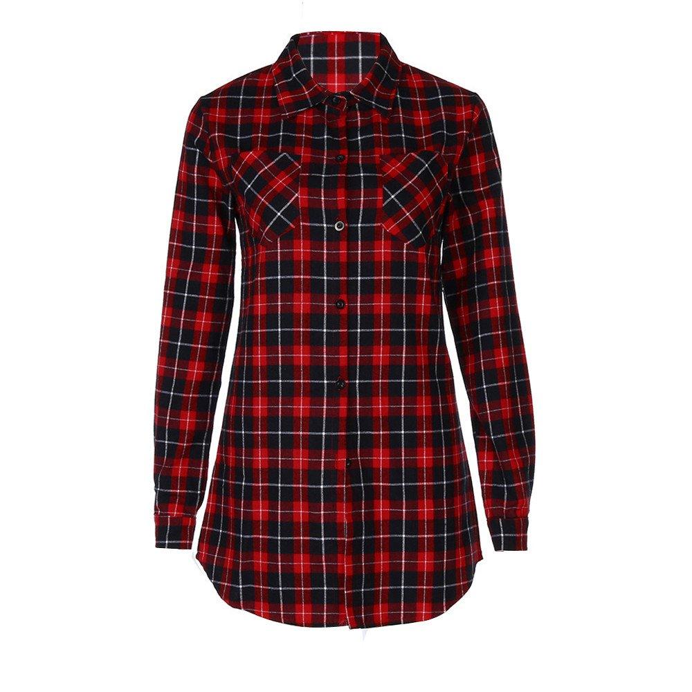 He2Naoly Women Grid Long Shirt Fashion Autumn Slim Thin Casual Long Sleeved College Checkered Tops Dress