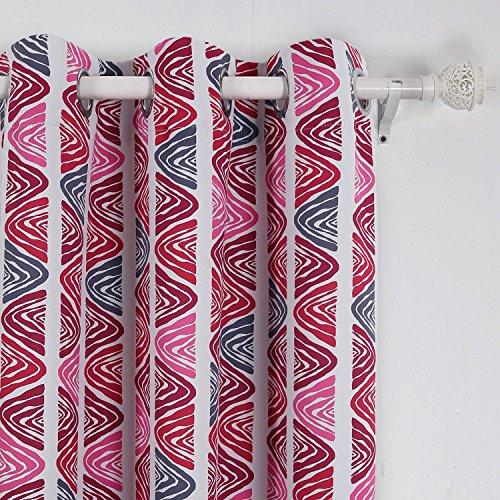 Fuchsia Zebra Print Blackout Grommet Curtains