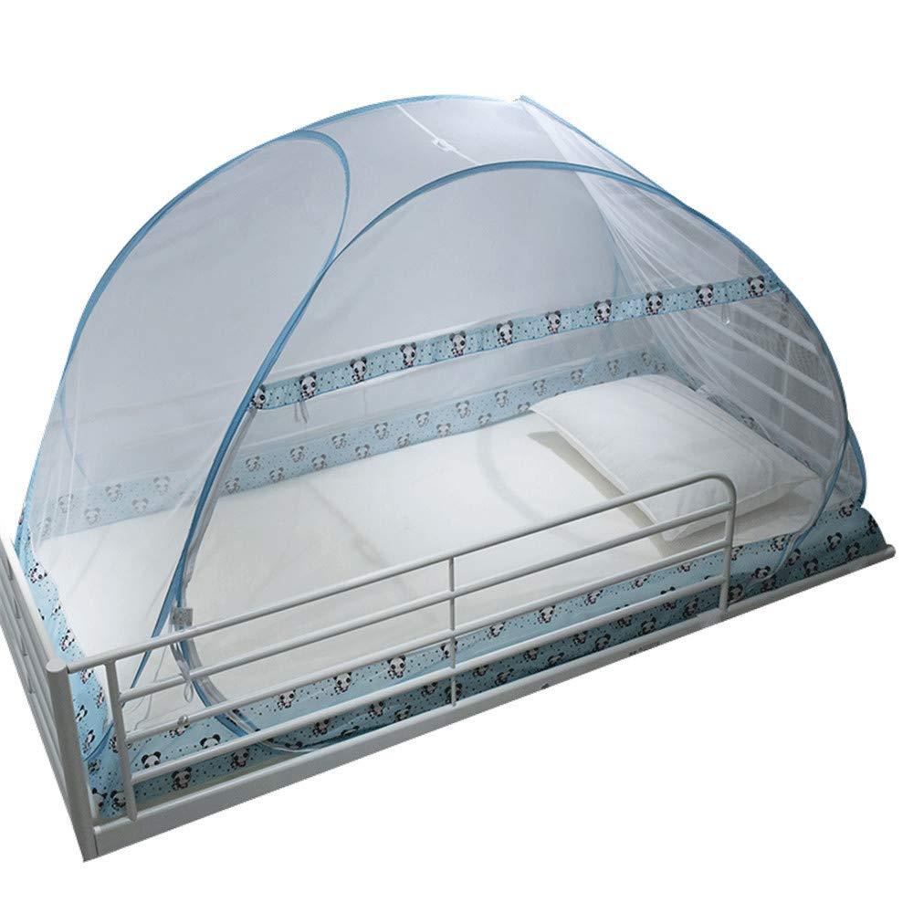 Yurt Student Mosquito net Dormitory Mosquito net Single Mosquito net Summer Mosquito Insect net Children's Mosquito net, Blue, 4.5 ft