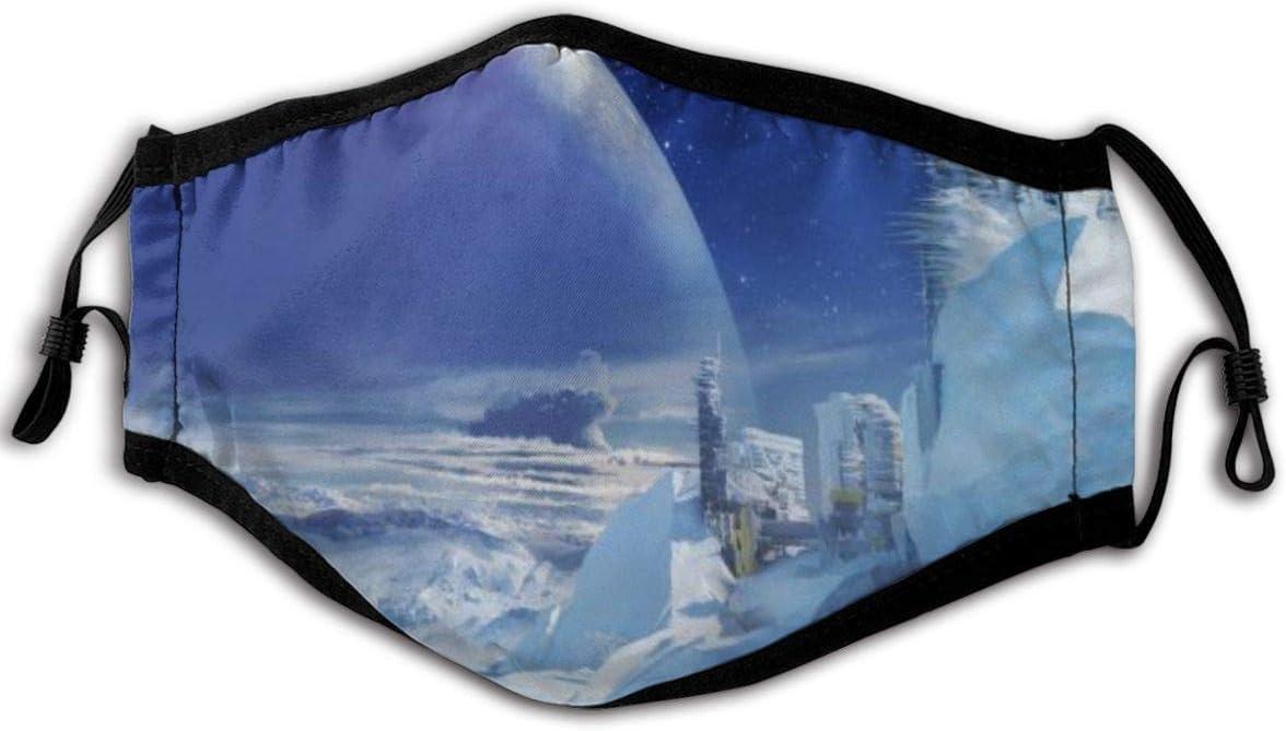 Half Face Cover,Júpiter Satélite Gancho para La Oreja Ventilación Cubierta contra El Polvo Atractivas Tapas Bucales para Protección contra El Polen De Cenizas,23x15cm