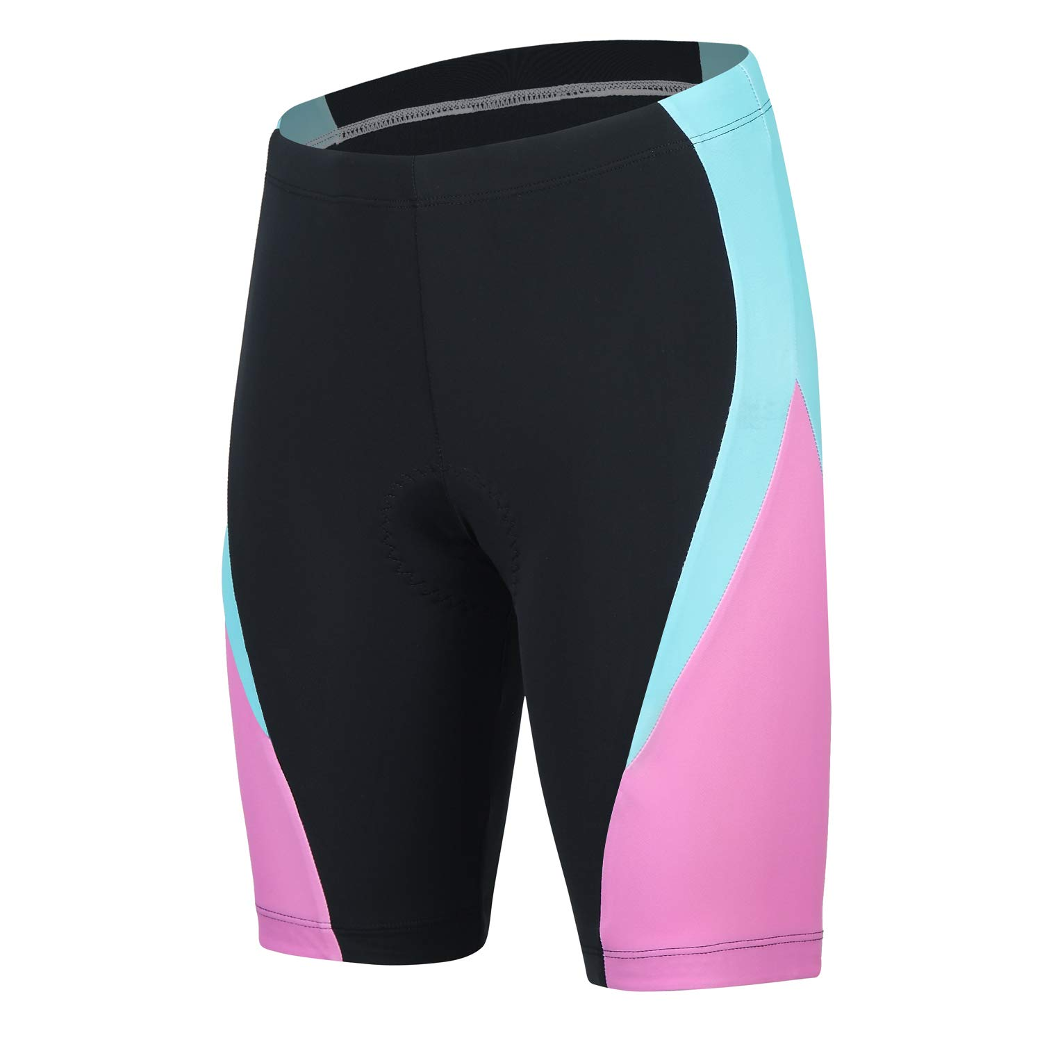 beroy Padded Bike Shorts Women,Ladies Compression Shorts,Bicycle Shorts(M Pink) by beroy