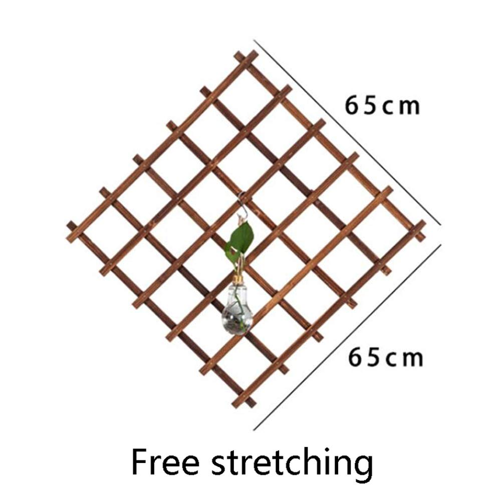 SOULOS Garden Trellis Climbing Plants Expanding Rectangle Adjustable Shrinking Living Room Wall Outdoors Robust Natural Vegetable Flower Vine Frame (Excluding Hanging Ornaments),1piece