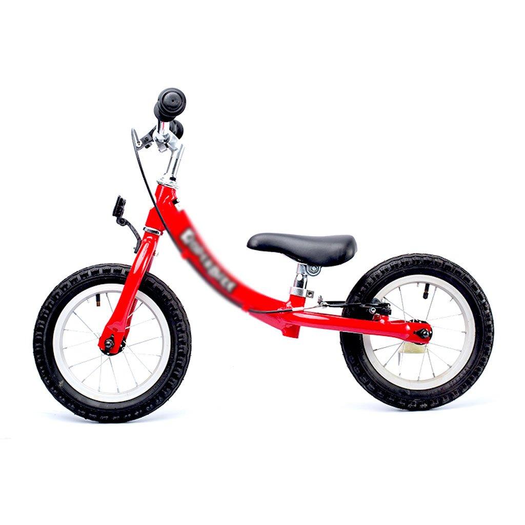 ペダルなしの子供スクーターペダルバランスなしのベビースクーター車バギー子供スクーターベビースクーター2ラウンドウォーカー赤いインフレータブル2-3-6歳   B07F36XPHD