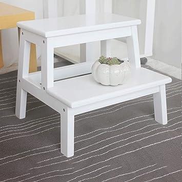WCS Taburete con escalones Taburete de madera maciza para niños Taburete con peldaños Inicio Escalera de