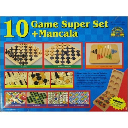 10 Game Super Set + Mancala by Challenge Master